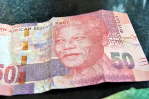 50 Rand with the face of Mandela... smiling. :)