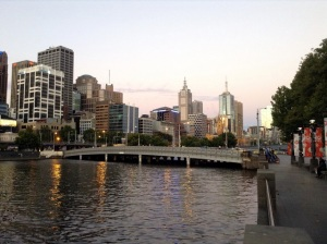 View from Southbank Promenade