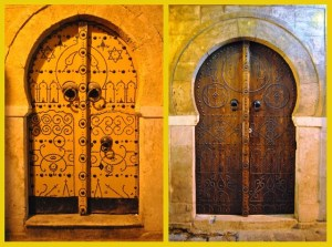 Traditional Tunisian doors