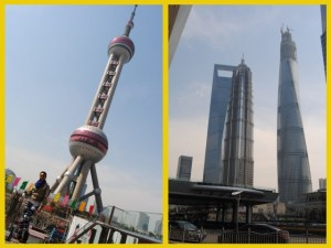 Left: The Oriental Pearl Tower Right: The Jin Mao Tower